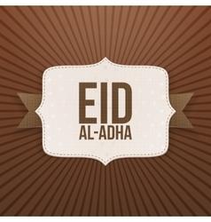 Eid al-adha festive paper badge vector