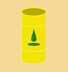 Flat icon on stylish background barrel of oil vector