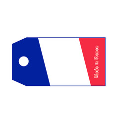 france flag on price tag with word made in france vector image vector image