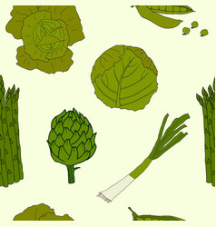 green vegetable pattern vector image vector image
