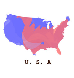 isolated american map vector image vector image