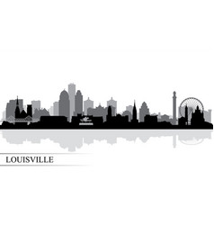Louisville city skyline silhouette background vector