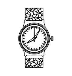 luxury wristwatch clock vector image