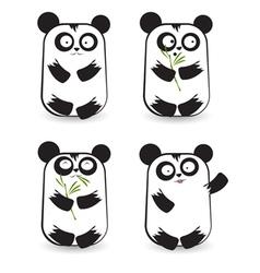 Pandas 2 vector image vector image