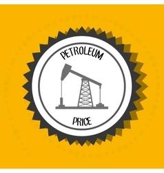 Petroleum oil barrel tower vector