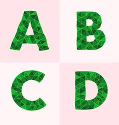 Polygonal font vector