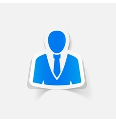 Realistic design element office people vector