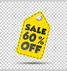 Sale 60 off hang tag vector