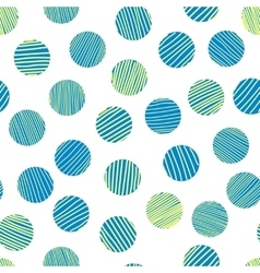 Seamless pattern made with scratched circles vector image vector image