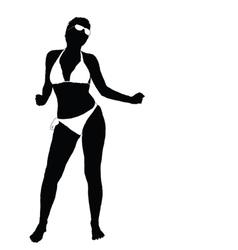 sexy girl in bikini part two vector image vector image