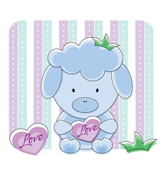 sheep love vector image vector image