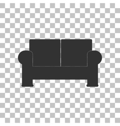 Sofa sign dark gray icon on vector