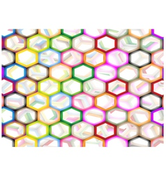 Multi Colors of Hexagon on Abstract Background vector image
