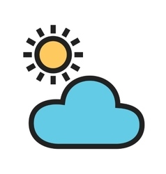 Cloudy weather vector