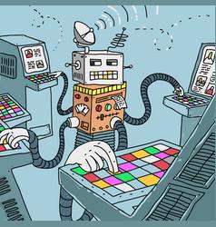 Robot processing information vector