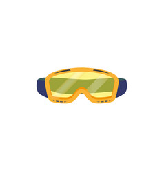 Snowboarding goggles flat icon isolated vector