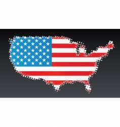 halftone America vector image