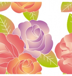 Spring summer rose pattern vector