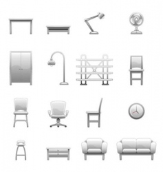 household object set vector image