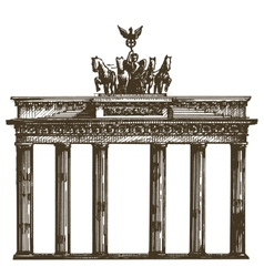 Germany logo design template architecture vector image