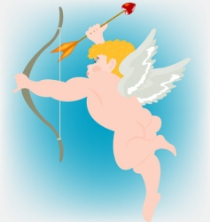 Boy angel vector