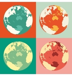 World globe maps  business vector