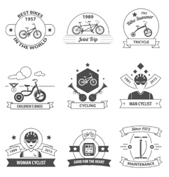 Bicycle label set vector