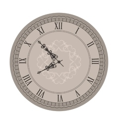 Old clock with vignette arrows vector
