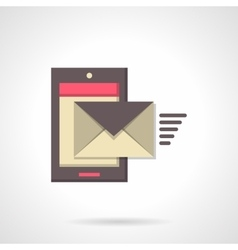Sending message flat color icon vector