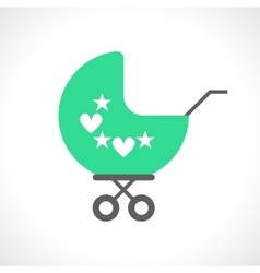 Baby pram icon isolated on white vector