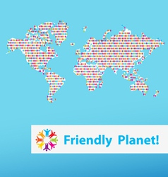 Friendly planet different people vector