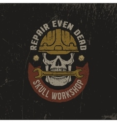 Grunge workshop logo vector