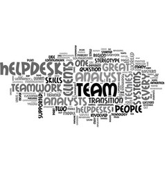 a team that gleamed text word cloud concept vector image