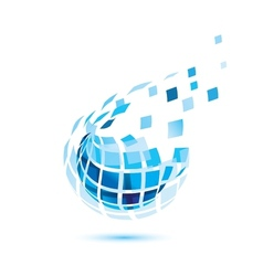 abstract globe icon business and comunication vector image