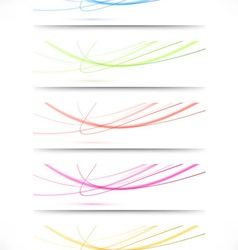 Abstract swoosh lines namecards collection for vector