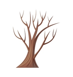 Bare tree without leaves oak vector