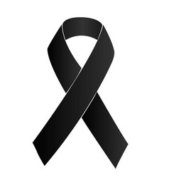 Black ribbon vector
