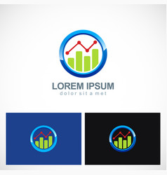 Business finance progress round logo vector