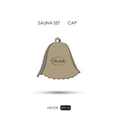 Cap sauna accessories on a white background vector