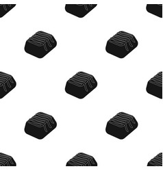 Chocolate candy icon in black style isolated on vector