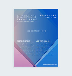 Company brochure flyer template with abstract vector