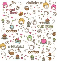cute doodle vector image vector image