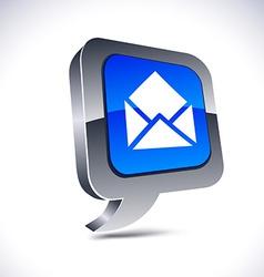 E-mail 3d balloon button vector