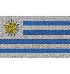 Flags Uruguay on denim texture vector image vector image
