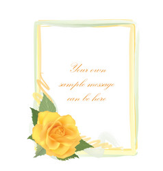 floral greeting card with flower rose frame vector image
