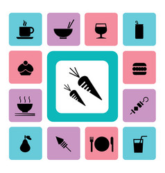food and drink icon2 vector image vector image
