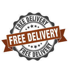 Free delivery stamp sign seal vector