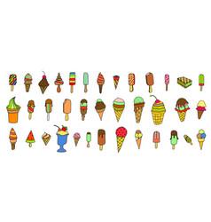 ice cream colorful vector image