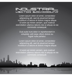 Industrial Background Image vector image