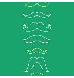 Line art mustaches vertical seamless pattern vector